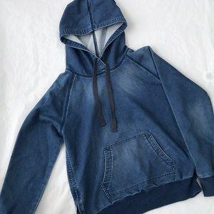 Gap denim jean blue hoodie size medium EUC